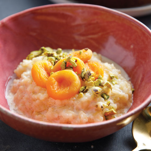 Apricot Rice Pudding