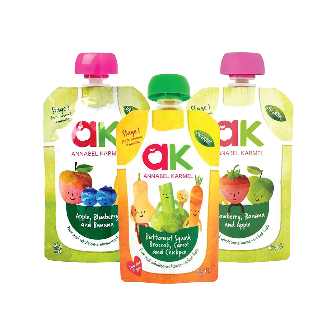 Annabel Karmel Stage 1 Organic Baby Food Assorted 100g