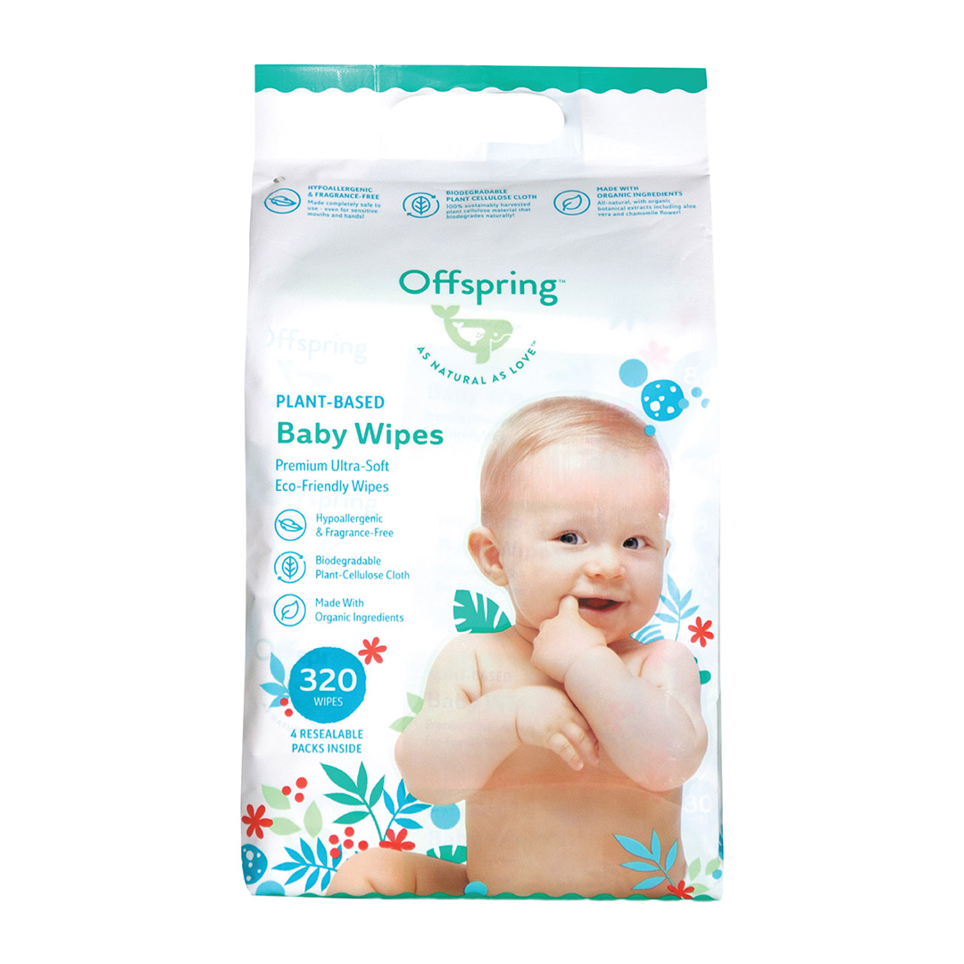 Offspring Baby Wipes 4 x 80s