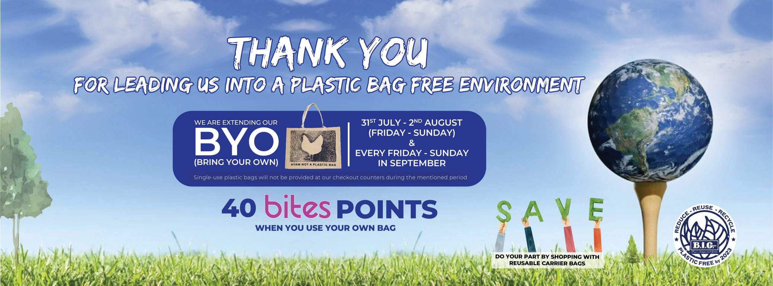 Plastic Bag Free at B.I.G.